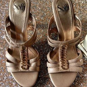 Bjorndal Soft Gold Strappy heels